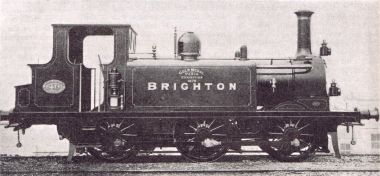 "0-6-0 Terrier-Class locomotive LBSCR 40 ""Brighton"", built at Brighton Locomotive Works in 1878"