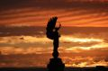 Brighton Angel of Peace statue at sunset.jpg