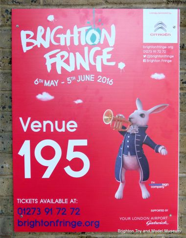 "2016 Brighton Fringe ""Venue number"" board for the museum"
