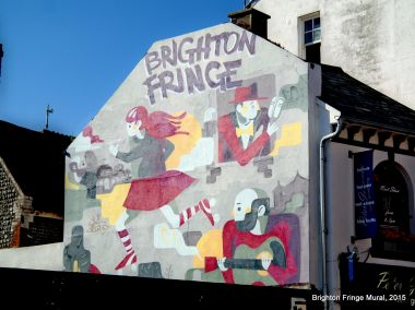 2015: Brighton Fringe Mural, Middle Street. This mural replaced the Alice Dreams mural