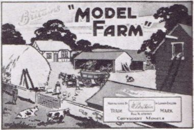 1958: Britains Farm dealer's showcard, apparently the same as the 1940 version