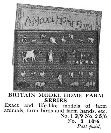 1932 Britains Model Home Farm catalogue entry