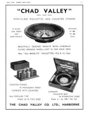 Chad Valley roulette sets, 1939 advert