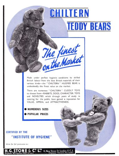 1939 ad: Chiltern Teddy Bears
