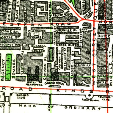 1939: Map of the area before redevelopment