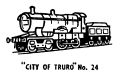 City of Truro locomotive, lineart (Kitmaster No24).jpg