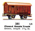 Closed Goods Truck, 00 gauge, Märklin 381 (Marklin00CatGB 1937).jpg
