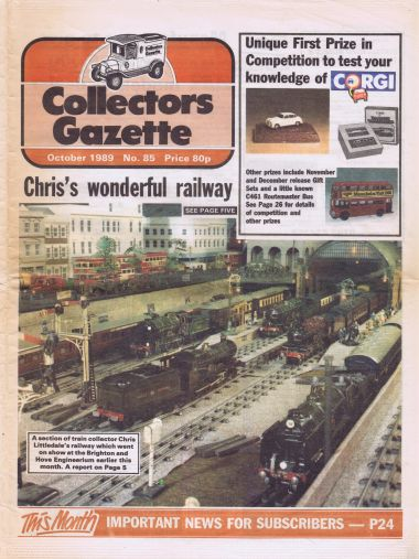 1989: The layout featured on the cover of Collectors Gazette, at the British Engineerium