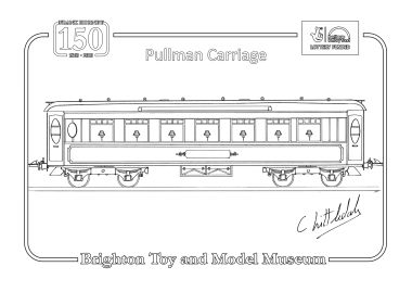 2013: Hornby No.2 Special Pullman carriage, colouring-in sheet (Chris Littledale)