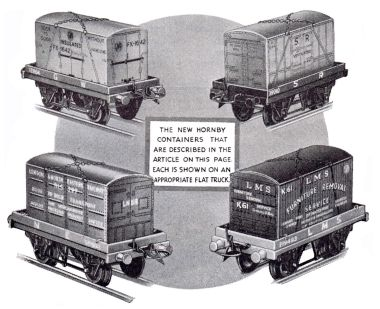 1936: Containers for Hornby Series trains