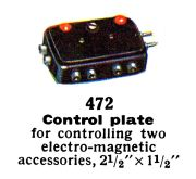 Control Plate with two buttons, Märklin 472 (MarklinCat 1936).jpg