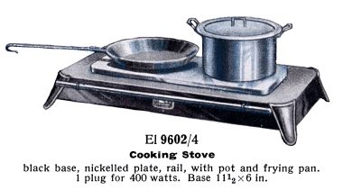 "1936: Low-profile ""hotplate"" cooker, Märklin El 9602/4"
