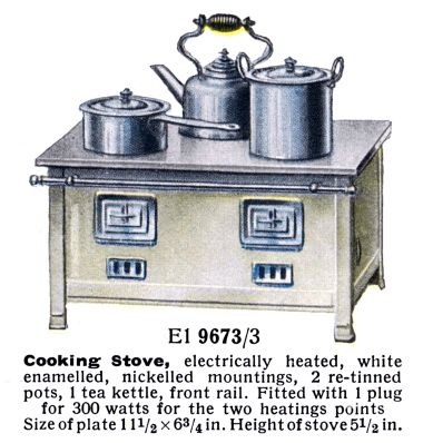 1936: Top-of the range electric cooking stove El 9673/3