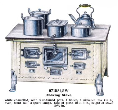 1936: Top-of the range spirit-fired stove 9715 St/5W
