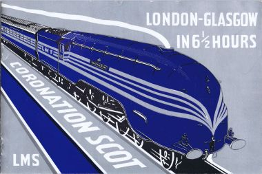 Advance publicity brochure for the train, printed for LMS in black, blue and silver ink (1937)