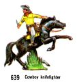 Cowboy Knifefighter, Britains Swoppets 639 (Britains 1967).jpg