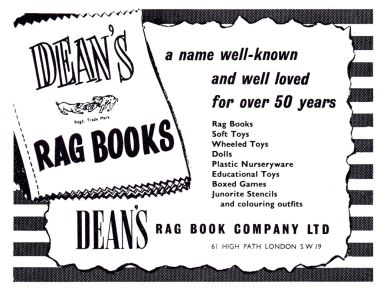 Dean's Rag Book Company trade advert, 1956