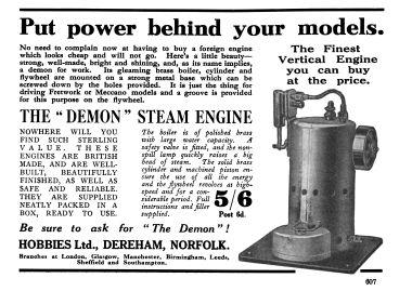 "1930: The Hobbies ""Demon"" upright stationary engine"
