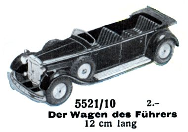 1939: Mercedes W150 High Command Staff Car, 5521/10