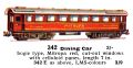 Dining Car, Mitropa red, 00 gauge, Märklin 342 342E (Marklin00CatGB 1937).jpg