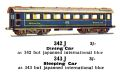 Dining Car, Sleeping Car, CIWL, 00 gauge, Märklin 342J 343J (Marklin00CatGB 1937).jpg