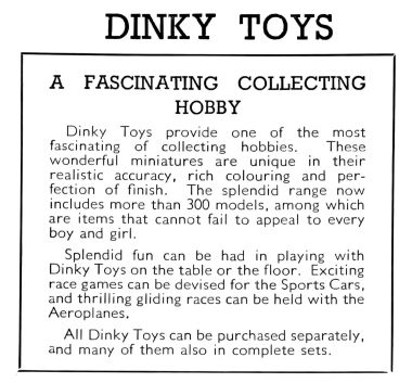 Dinky Toys - A Fascinating Collecting Hobby (1939)