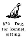 Dog for kennel, sitting, Britains Farm 569 (BritCat 1940).jpg