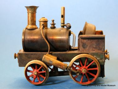 """Dribbler"" live steam toy locomotive, museum example number two"