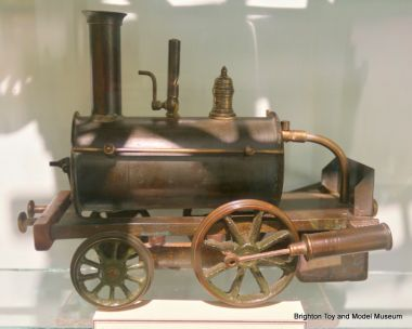 """Birmingham Dribbler"" live steam toy locomotive, museum example number one"