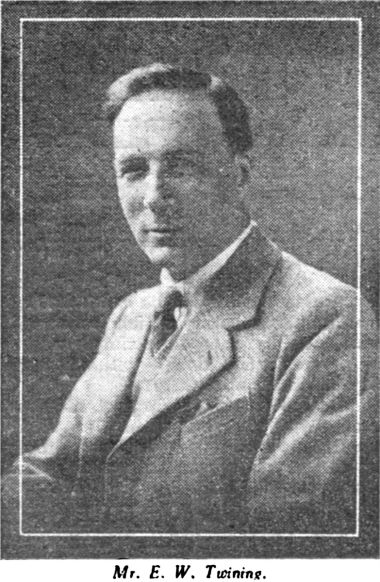 E.W. Twining, portrait photograph, from Hobbies Weekly 1932