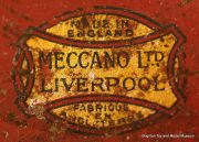 Early Meccano Ltd red and gold foil sticker.jpg