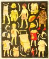Early paper dolls cut-out sheet, black background, unidentified, 01.jpg