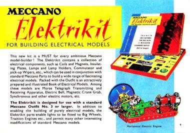 Elektrikit, Meccano Ltd. catalogue, circa ~1962/1963
