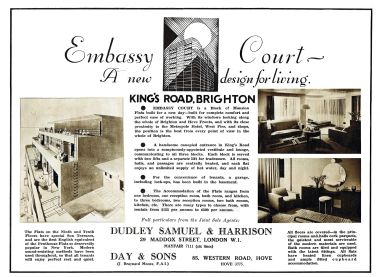 "1935: ""Embassy Court – A new design for living"", flat details"