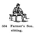Farmers Son, sitting, Britains Farm 554 (BritCat 1940).jpg