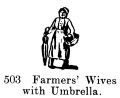 Farmers Wives with Umbrella, Britains Farm 503 (BritCat 1940).jpg