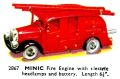 Fire Engine with electric headlight and battery, Minic 2867 (TriangCat 1937).jpg