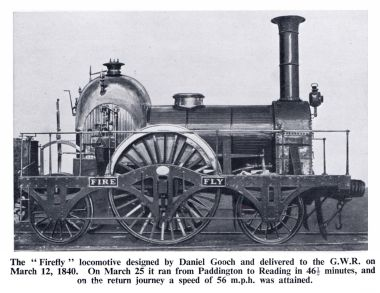 "1840 2-2-2- locomotive ""Fire Fly"""