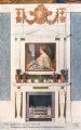 Fireplace and Overmantel in Queens Bedroom, The Queens Dolls House postcards (Raphael Tuck 4503-5).jpg