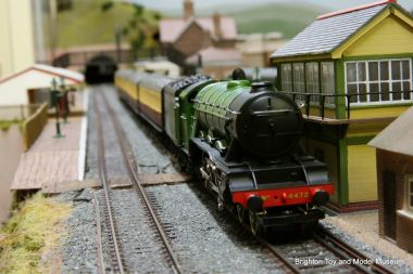 A Hornby Flying Scotsman on the museum's 00-gauge layout