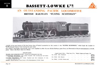 1952 Bassett-Lowke catalogue page