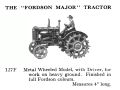Fordson Major Tractor, Britains 127F (BritainsCat 1958).jpg