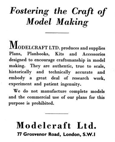 "1948: ""Modelcraft: Fostering the Art of Model Making"""