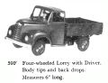 Four-wheeled Lorry with Driver, Britains 59F (BritainsCat 1958).jpg