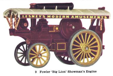 "Matchbox Y9 Fowler ""Big Lion"" Showman's Engine"