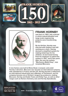 Frank Hornby 2013 Anniversary brochure, front