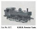 GWR Pannier Tank Engine, card model (Trix1800 SC7).jpg