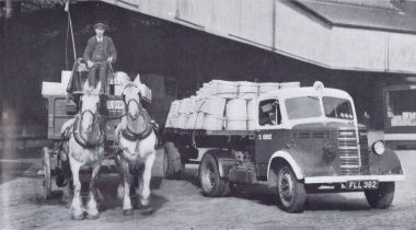 GWR road transport - lorry and horse and cart