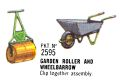 Garden Roller and Wheelbarrow, Britains Floral Garden 2595 (Britains 1966).jpg