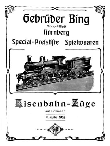 Gebruder Bing (Nurnburg), GBN 1902 catalogue page with Art Nouveau decoration